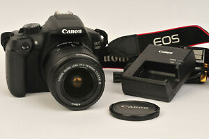 Canon EOS 1300D Camera With EFS 18-55 II Lens & 8 GB SD Card Shutter Count: 7750