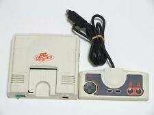 PC Engine Console & Controller Pad w/EXT BUS Cover Good Condition NEC