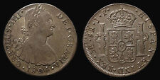 pci1259) SPAIN Carolus IIII 8 Reales 1804 Lima J.P. Toned from old collection