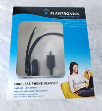 Plantronics Cordless Phone Headset M214C Over The Head Style Noise Reduction Mic
