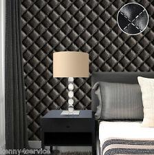 3D Leather Effect  Home Vinyl Rustic Vintage Luxury Headboard Wallpaper Roll 10M