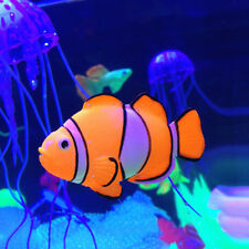 Aquarium Fish Tank Landscaping Decor Glowing Effect Clown fish Water Ornament