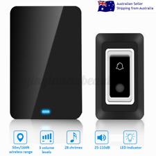 Wireless WiFi Doorbell Door Ring Waterproof Security Bell Transmitter & Receiver