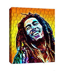 Bob Marley pop art canvas wall art Wood Framed Ready to Hang XXL.