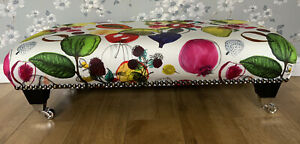 Footstool Stool In Designers Guild Manaos Perroquet Fabric