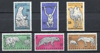 37108) CZECHOSLOVAKIA 1962 MNH** Animals 6v