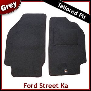 Tailored Fitted Carpet Car Floor Mats in GREY Ford Ka 2009-2013