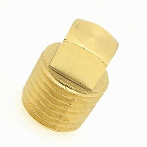 1/4 Male Npt Square Head Pipe Plug Bung Brass Fitting Water Oil Fuel Air Vacuum