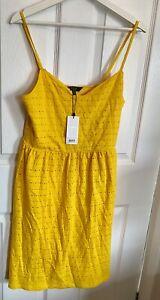 BNWT Lipsy Beautiful Ochre Yellow Autumn Midi Dress Size 12 🎇🍁