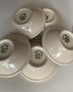 "Lot of 5 Vintage Buffalo China Restaurant Ware Berry/ Fruit/ Sauce Bowls / 4.25"""