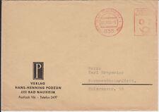 Firmenbrief mit Freistempel Bad Nauheim, Verlag Hans-Henning Podzun, 1962