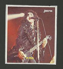KISS - Gene Simmons - Rock Music Band - vintage Joepie Sticker Card E