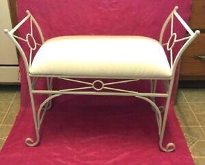 BEAUTIFUL - Mid-Century Modern Upholstered Metal Leg Bench - L@@K
