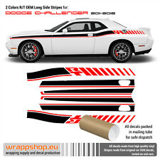 DODGE Challenger RT OEM 2 colors long side stripes 2011 - 2018