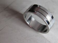 New Lot of 10 Wholesale Men's Stainless Steel Ring Band Wedding Fashion Size 10
