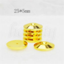 8pcs Speaker Cone Spike Isolation Stand Foot Base Pads Floor Discs 25mm*5mm Gold