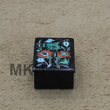 box trinket ring jewelry vintage holder marble inlay art gold wedding gift decor