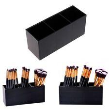 Acrylic Makeup Brush Holder Cosmetic Black Organizer Case Jewelry Storage Box