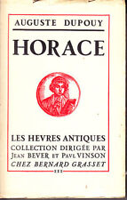 C1 Auguste DUPOUY - HORACE Heures Antiques EO NUMEROTE