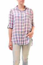 Sundry Women's Checked Shirt Long Sleeves Natural Size US1 RRP £130 BCF77