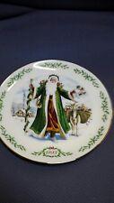 Lenox 1993 International Victorian Santa Plate Collection Father Christmas.