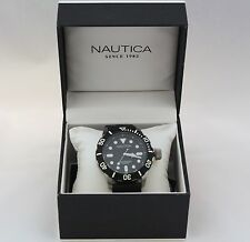 New Nautica A09600G Sports Black Silicone Band and Dial Analog Men Watch