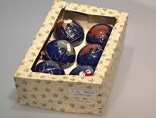 vintage Eckartina Christbaumschmuck Baumkugeln Teddy Engel Baby Blau Kunststoff
