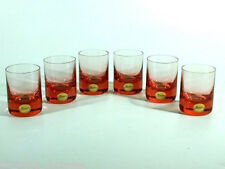 Ludwig Moser Karlsbad Czech rosalinglas ° Glasses with ätzmarke ° Label