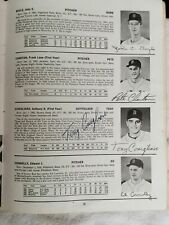 1964 Boston Red Sox Yearbook Signed Tony Conigliaro On Minor League Photo 1/1