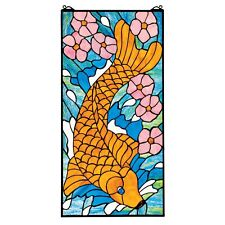 Design Toscano Asian Koi Stained Glass Window TF207033
