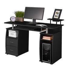 Computer PC Desk Writing Table Office Home Raised Monitor & Printer Shelf Table