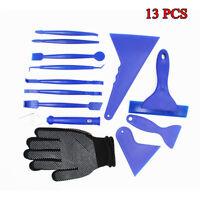 13PCS Car Auto Window Film Tint Tool Kit Gloves Vinyl Wrap Film Squeegee Scraper