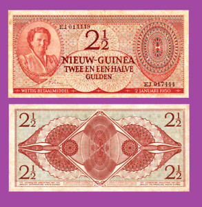 Netherlands New Guinea 2,5 Gulden 1950 UNC - Reproduction