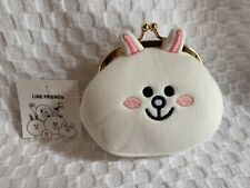 New LINE FRIENDS Cony Character Face Snap Coin Purse Wallet JAPAN ORIGINAL