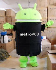 Hot Custom Logo Android Robot Mascot Costume Adult Fancy Dress Free Shipping EPE