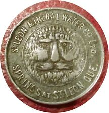 CANADA 1890 ST LEON MINERAL WATER CO QUEBEC GOOD FOR ONE GLASS WATER TOKEN