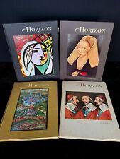 Vintage Horizon Magazine of the Arts Lot Of 4 Magazines Books 1965-1966