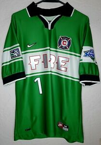 MLS Chicago Fire Nike 1998 Jorge 'Brody' Campos Goalie Soccer Jersey Very Rare