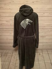 HBO Game Of Thrones Official Merch House Of Stark Soft Bath Robe Adult S/M EUC
