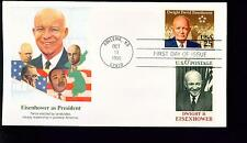 1990 FDC - Scott# 2513 COMBO - Dwight D Eisenhower - Fleetwood Cachet    UA