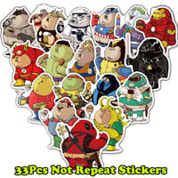 33 PVC Batman Spiderman Superman Hulk Kids Marvel Superhero Stickers Stickerbomb