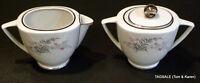 ROYAL JACKSON china PARISIENNE JEANNINE pattern Cream & Sugar Set ~ Very Nice