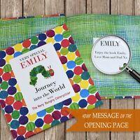 Personalised Hungry Caterpillar Book Childrens Luxury Hardback Book In Gift Box