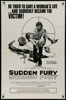 Sudden Fury GRINDHOUSE RARE 1975 1-SHEET MOVIE POSTER 27 x 41 ORIGINAL