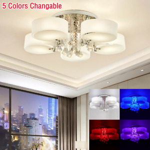LED Crystal Ceiling Light Chandelier Lamp Kitchen Bed Modern Living Room Shades
