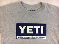 NWT YETI Grey Logo T Shirt - Men's Size Small