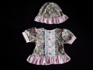 Summer dress and a hat for 43cm Baby Doll