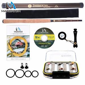 Maxcatch 10' 11' 12' 13' Tenkara Rod Combo Complete Kit, Tenkara Line, Tippet