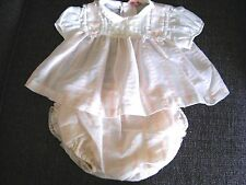 Vintage Adorable Pink Baby Dress W/Panties With Plastic lining in them & Ruffles
