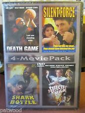 4-MOVIE PACK: DEATH GAME/SILENT FORCE/SHARK IN BOTTLE/EFFECTS OF MAGIC (DVD,2004